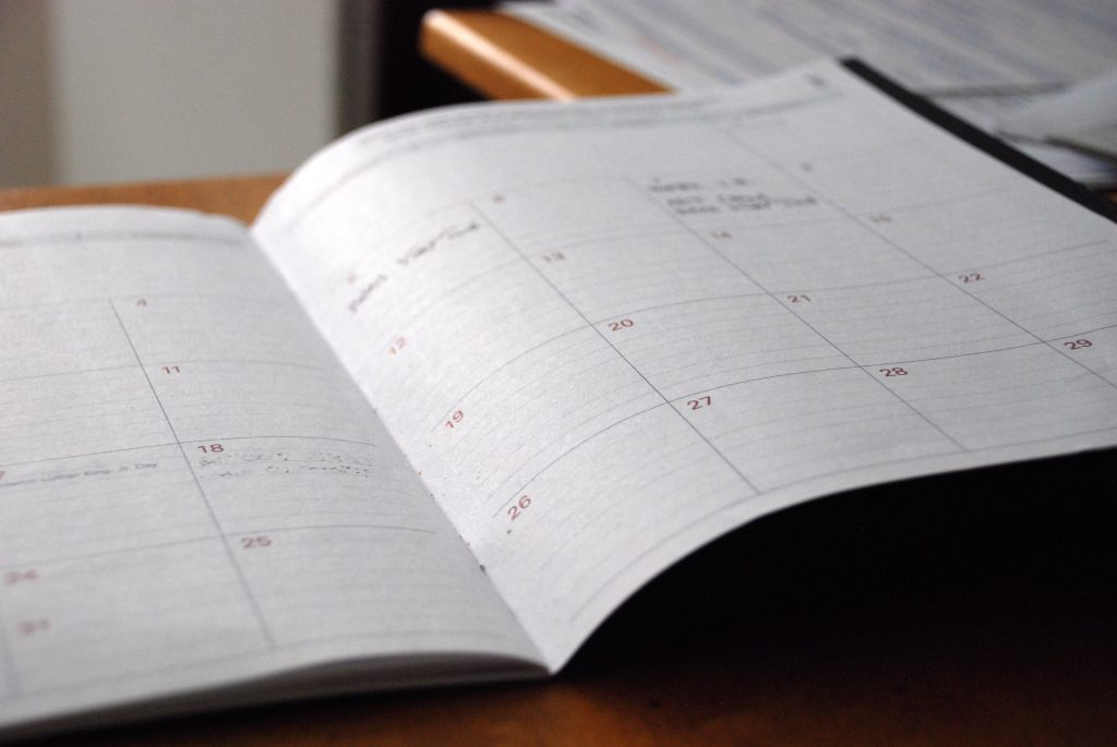 Open Calendar on desk