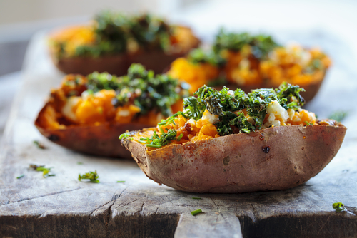 Healthy Super Bowl Snacks Sweet Potato Skins