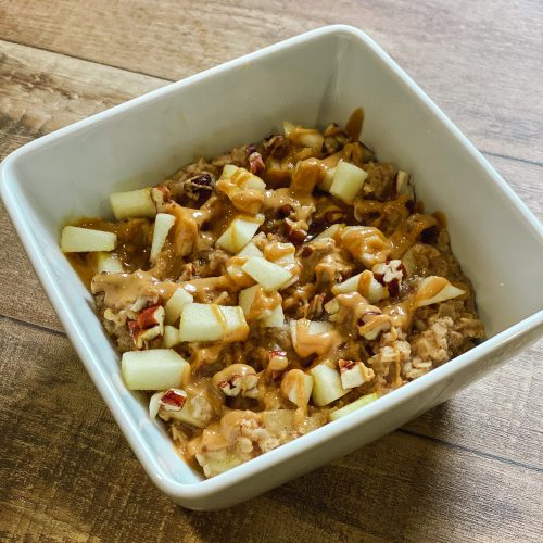 Spiced Apple and Peanut Butter Oatmeal